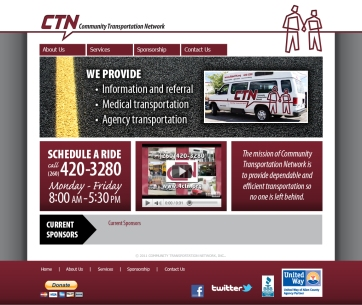 CTN website front page