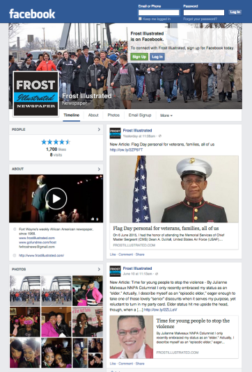 Frost Facebook page