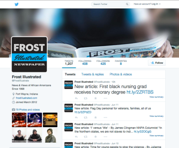 Frost Twitter page